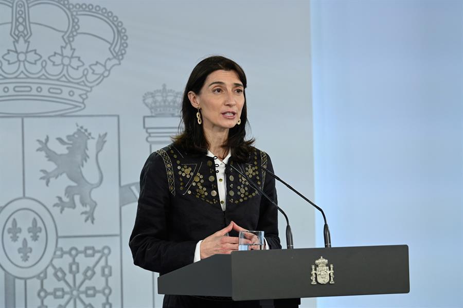 La ministra de Justicia, Pilar Llop, en rueda de prensa en La Moncloa. Foto: EFE/MONCLOA/Borja Puig de la Bellacasa