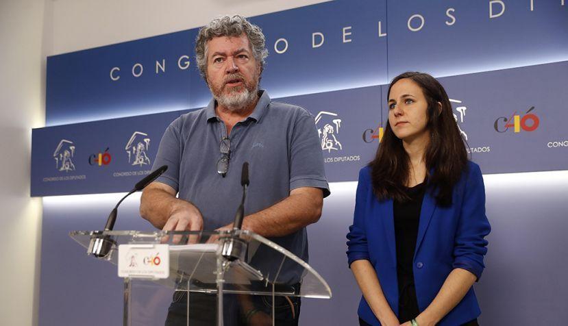 Juantxo López de Uralde e Ione Belarra. // EFE