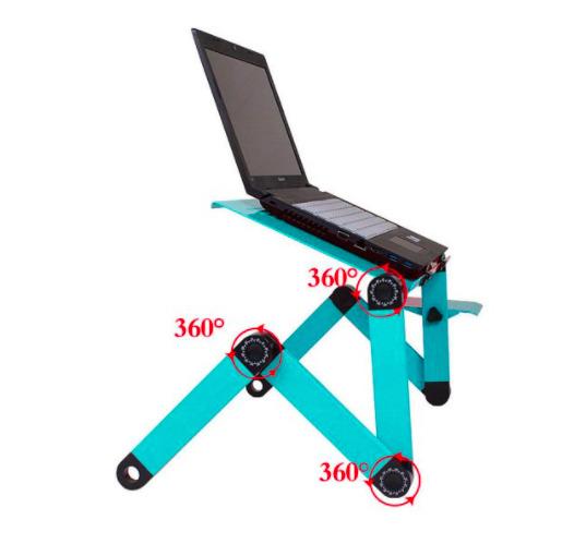 La mesa plegable de Aldi se puede adaptar a diferentes posiciones