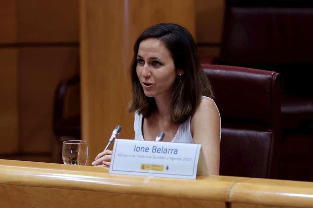 Podemos se cuelga la medalla del castigo del Gobierno a las eléctricas. En la imagen, Ione Belarra. EFE/J.J. Guillén