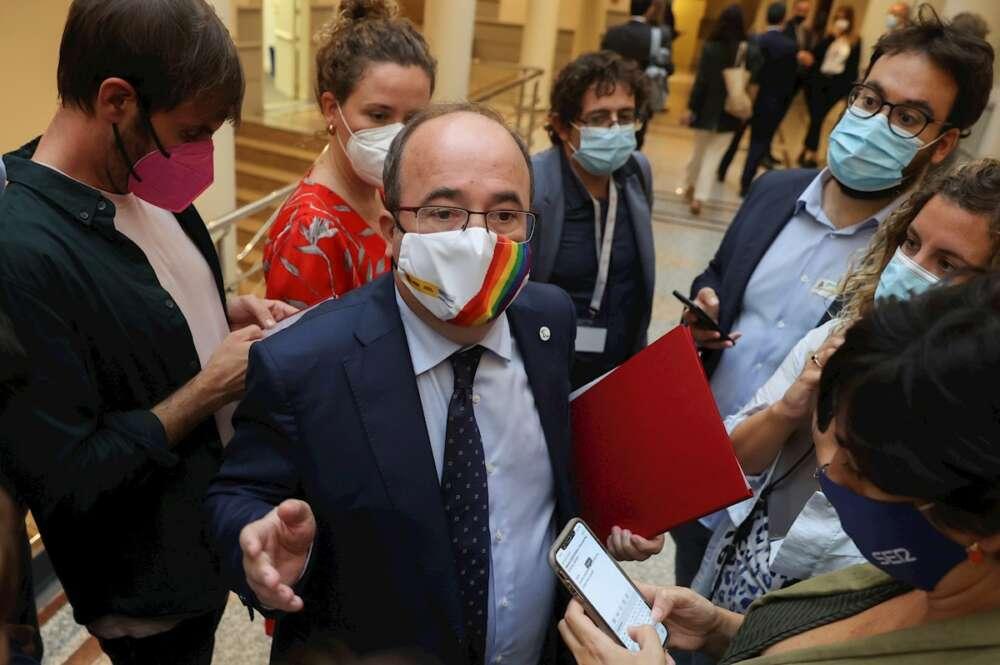 El ministro de Cultura y Deporte, Miquel Iceta pone en duda que el Gobierno alcance grandes acuerdos con Cataluña. EFE/Kiko Huesca
