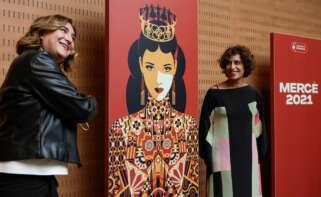 Ada Colau en la presentación del cartel de las Fiestas de la Mercè 2021. EFE / Quique García