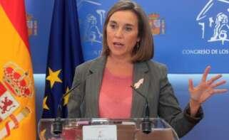 La portavoz del PP en el Congreso, Cuca Gamarra, ofrece una rueda de prensa con motivo de la reunión de la Junta de Portavoces en el Congreso de los Diputados en Madrid, este martes. EFE/ Fernando Alvarado