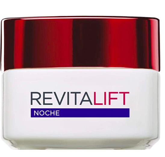 L'Oreal Paris Revitalift Crema de Noche Anti-edad Hidratante, Antiarrugas y Extra Firmeza, por tan sólo 7,94 euros en Amazon